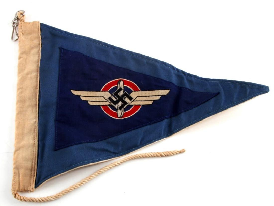 WWII GERMAN THIRD REICH NSFK & DLV COMBO PENNANT