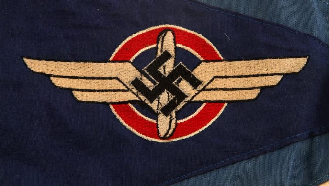 WWII GERMAN THIRD REICH NSFK & DLV COMBO PENNANT - 2