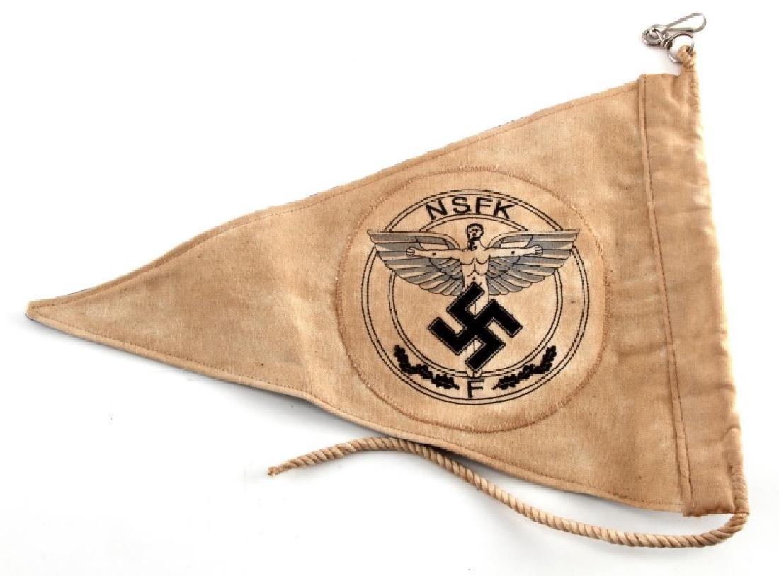 WWII GERMAN THIRD REICH NSFK & DLV COMBO PENNANT - 3
