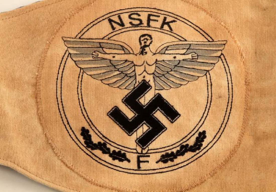 WWII GERMAN THIRD REICH NSFK & DLV COMBO PENNANT - 4