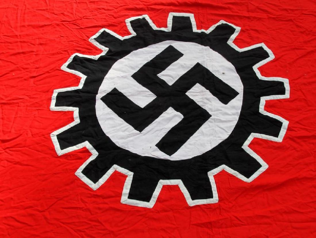 WWII GERMAN THIRD REICH LARGE DAF SWASTIKA FLAG - 10
