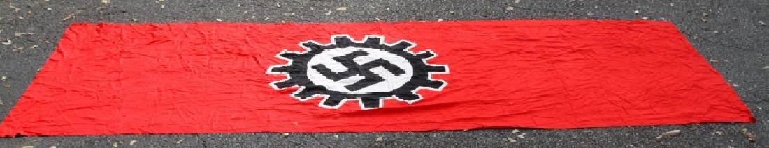 WWII GERMAN THIRD REICH LARGE DAF SWASTIKA FLAG