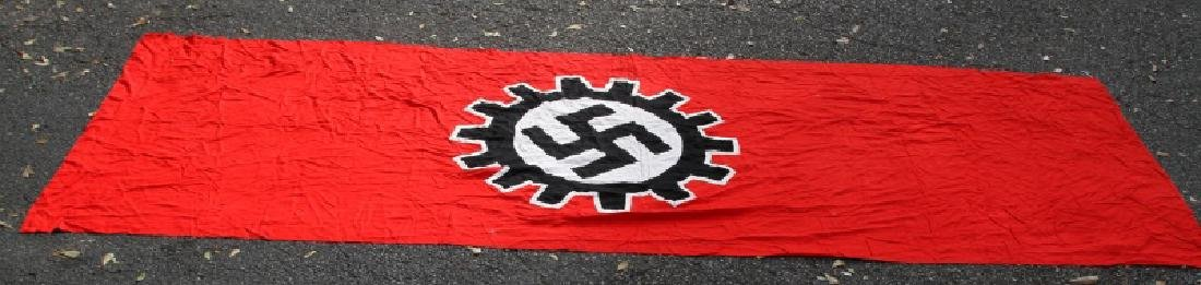 WWII GERMAN THIRD REICH LARGE DAF SWASTIKA FLAG - 4