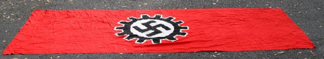 WWII GERMAN THIRD REICH LARGE DAF SWASTIKA FLAG - 5