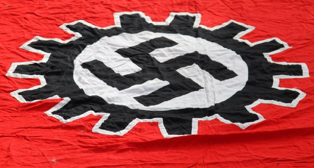 WWII GERMAN THIRD REICH LARGE DAF SWASTIKA FLAG - 6