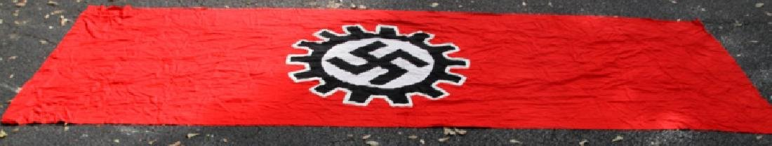 WWII GERMAN THIRD REICH LARGE DAF SWASTIKA FLAG - 8