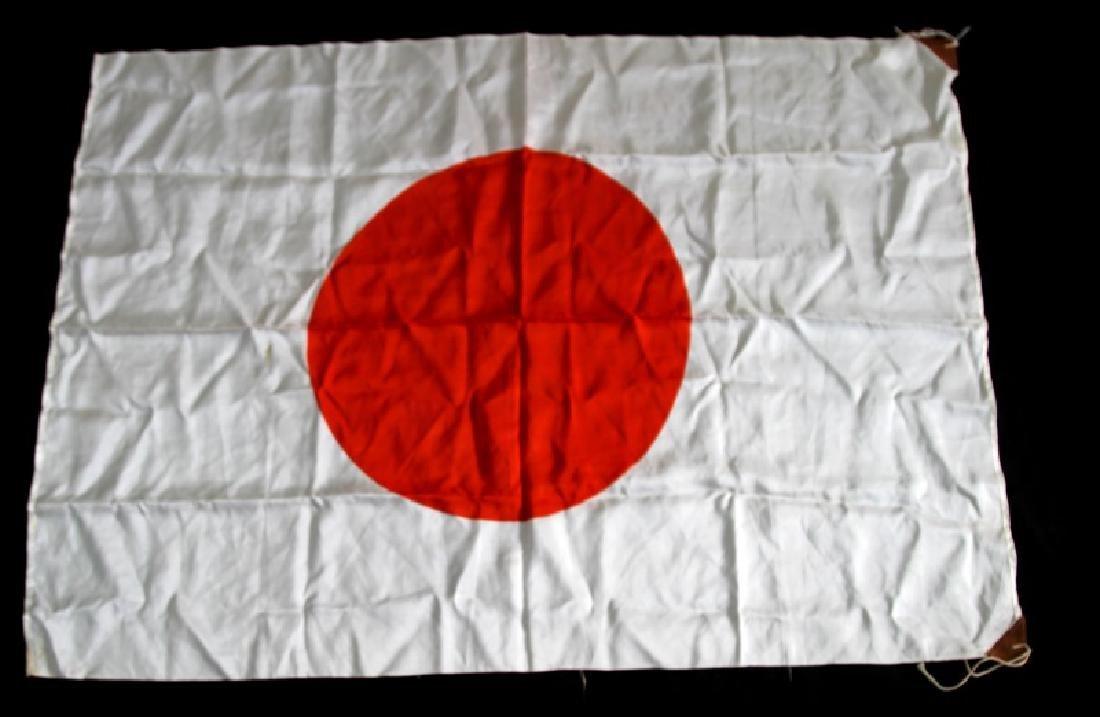 JAPANESE WWII SILK MEATBALL BATTLE FLAG - 4