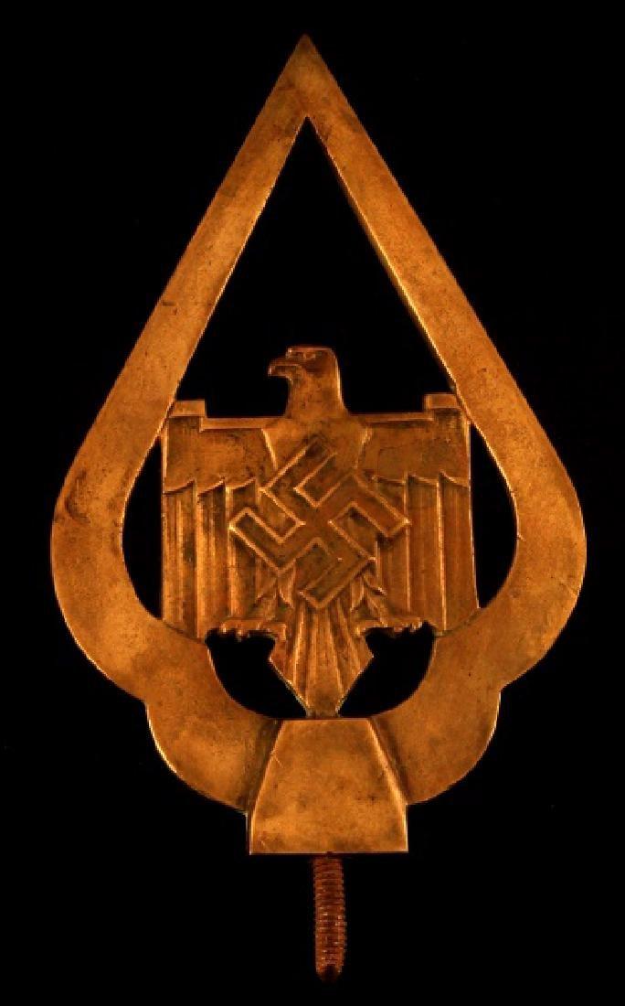 WWII GERMAN THIRD REICH NSDAP FLAG FINIAL IN BRASS
