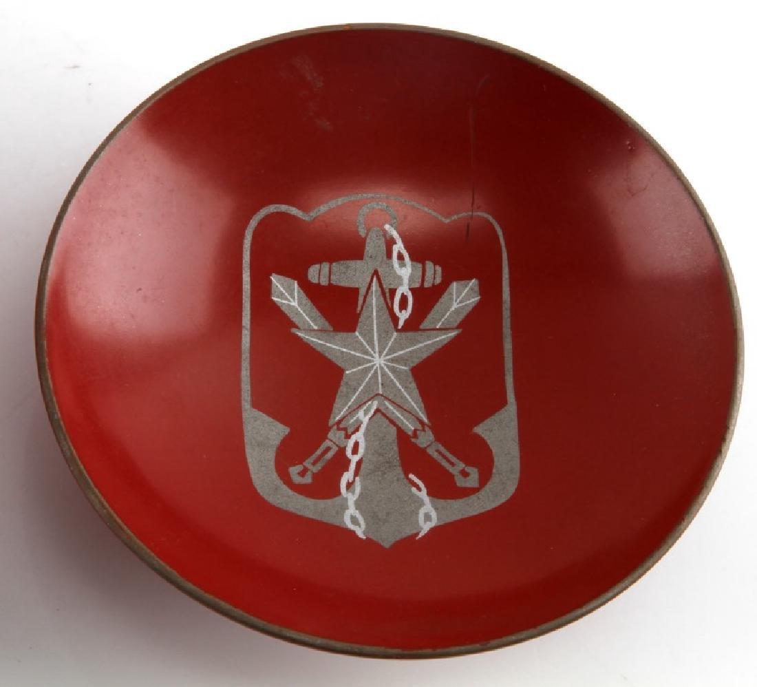 JAPANESE WWII RICE BOWL & SAKE CUP VETERANS ORG