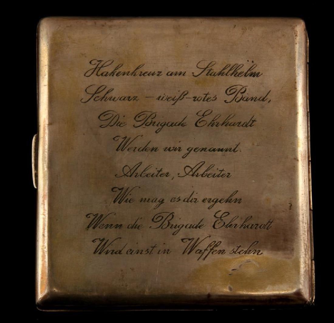 WAFFEN SS SILVER CIGARETTE CASE EHRHARDT BRIGADE - 3