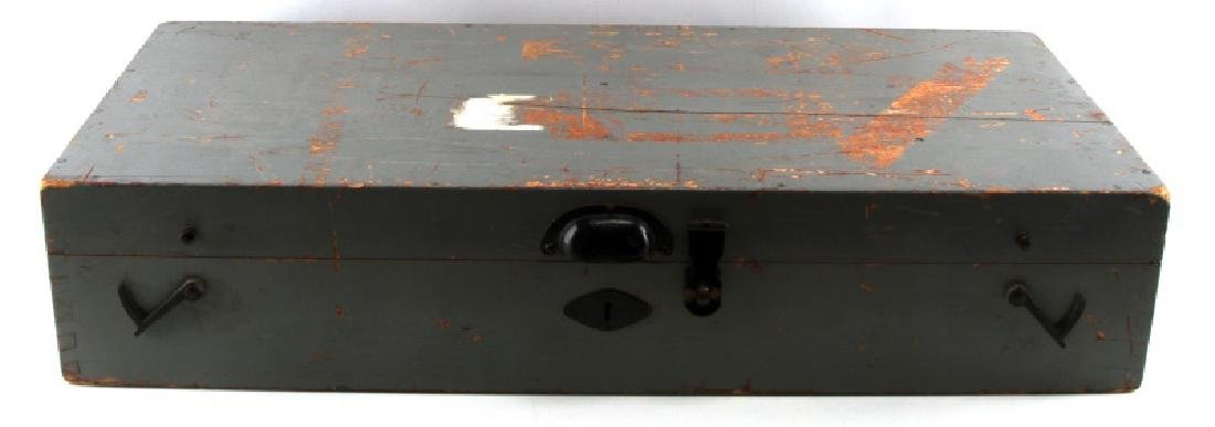 WWII JAPANESE BIG EYE BINOCULAR BOX AND STAND
