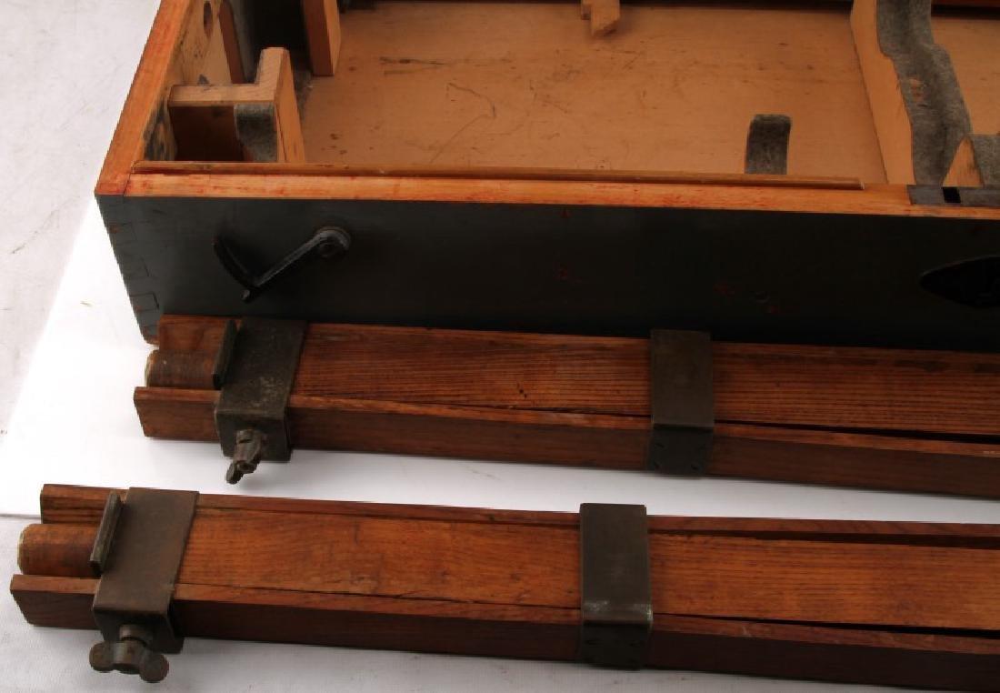 WWII JAPANESE BIG EYE BINOCULAR BOX AND STAND - 3
