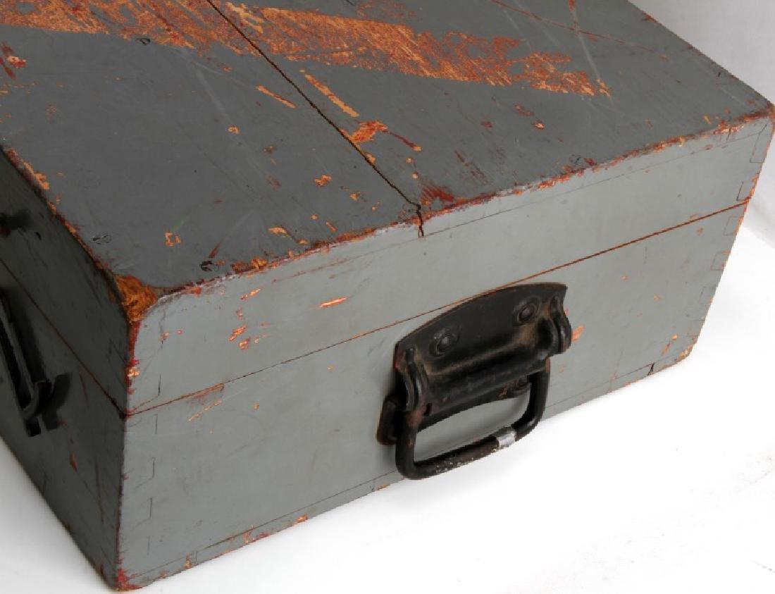 WWII JAPANESE BIG EYE BINOCULAR BOX AND STAND - 5