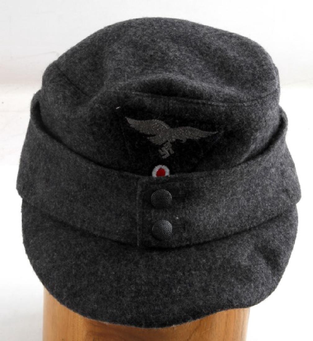WWII GERMAN THIRD REICH LUFTWAFFE GREY FIELD CAP