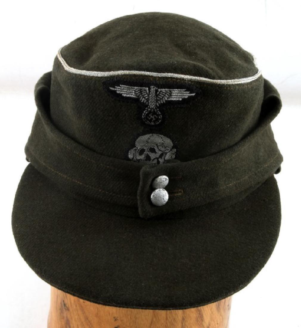 GERMAN WWII WAFFEN SS OFFICER M43 FIELD CAP