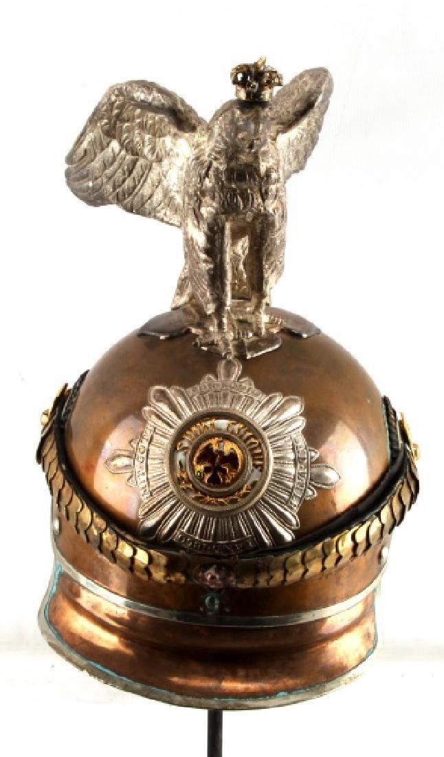 IMPERIAL GERMAN PRUSSIA GUARD EAGLE OFFICER HELMET