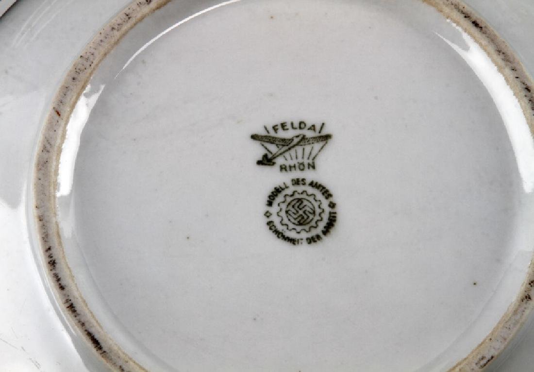 WWII GERMAN 3RD REICH MILITARY MESS HALL DISH LOT - 4