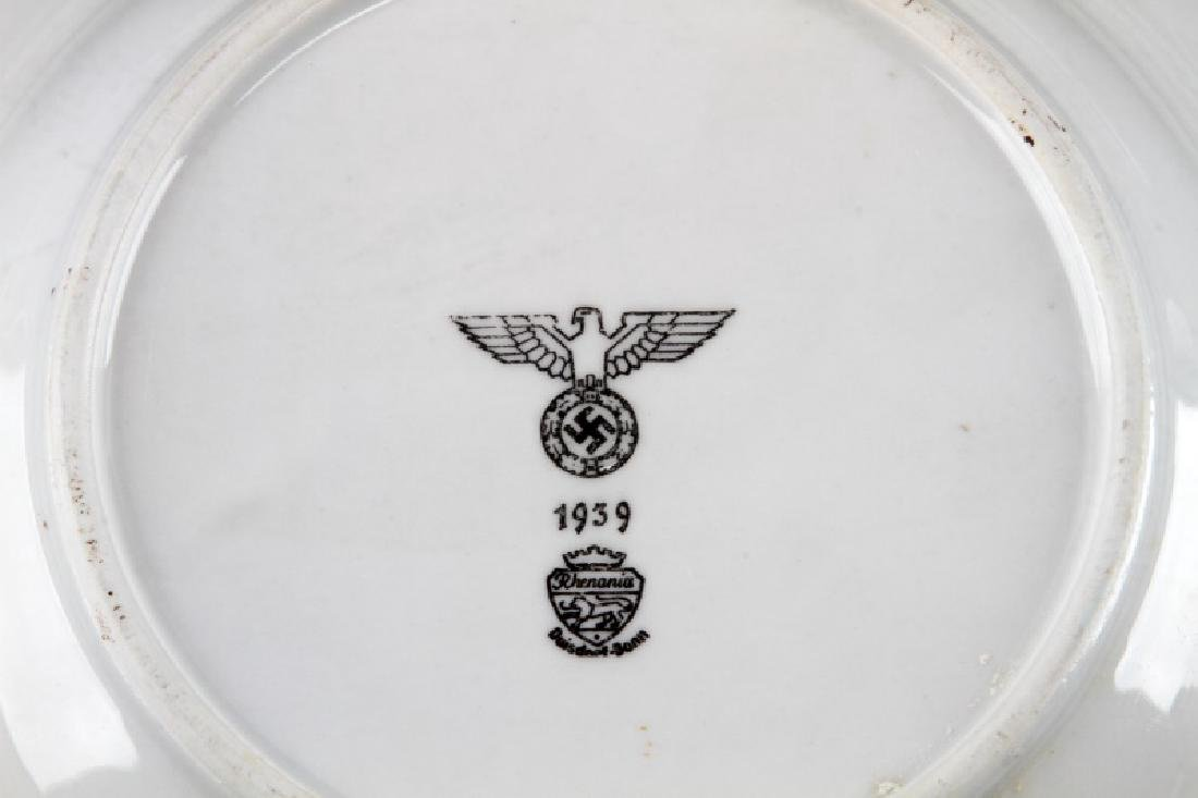 WWII GERMAN 3RD REICH MILITARY MESS HALL DISH LOT - 5