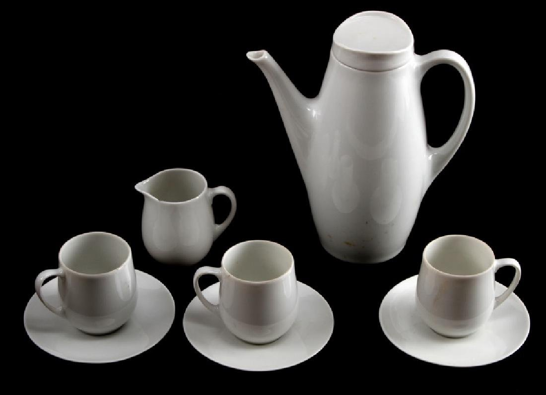 GERMAN WWII SS MARKED ALLACH TEA SET FOR THREE