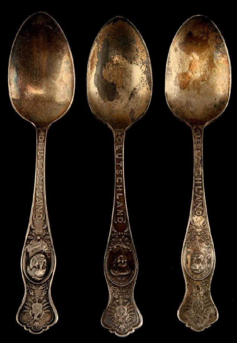 IMPERIAL GERMAN KAISER WILHELM PEWTER SPOON LOT