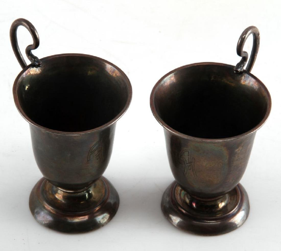 WWII GERMAN 3RD REICH HITLER SCHNAPS CUP LOT OF 2