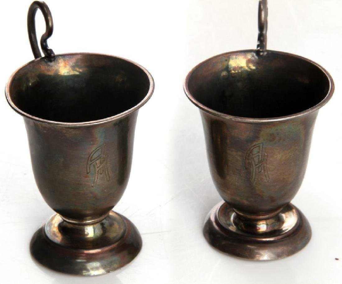 WWII GERMAN 3RD REICH HITLER SCHNAPS CUP LOT OF 2 - 2