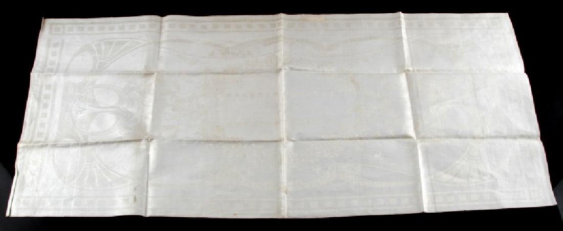 WWII GERMAN ADOLF HITLER PERSONAL TABLE CLOTH - 2
