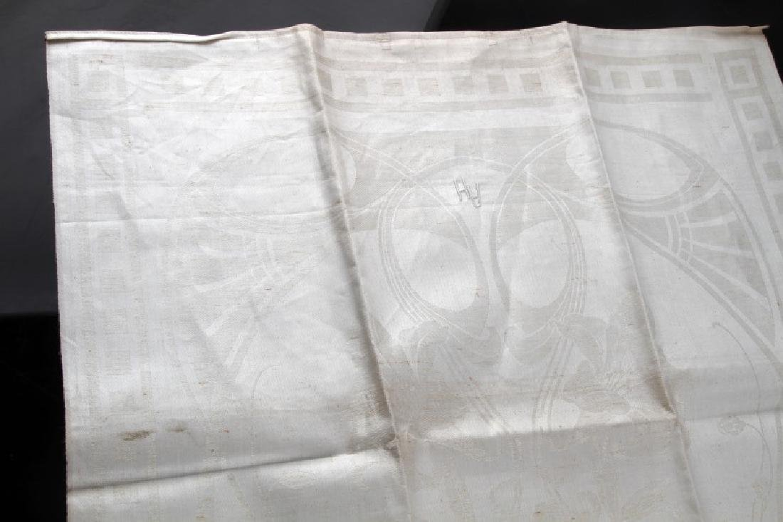 WWII GERMAN ADOLF HITLER PERSONAL TABLE CLOTH - 3