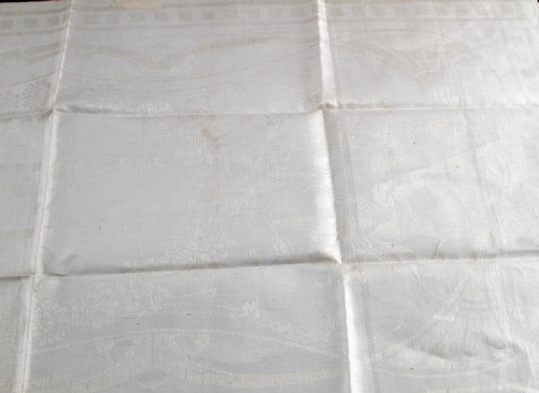 WWII GERMAN ADOLF HITLER PERSONAL TABLE CLOTH - 4