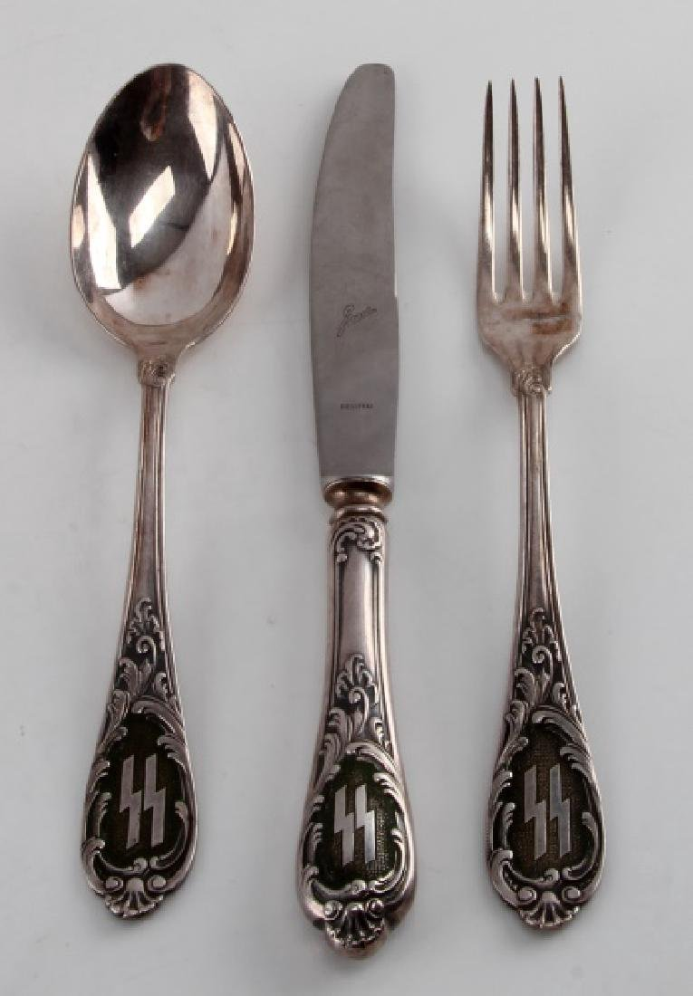 WWII GERMAN THIRD REICH SS DACHAU CASINO FLATWARE