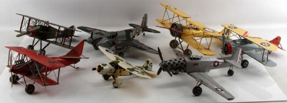 7 DIE CAST FIGHTER PLANE LOT USAAC RED BARON ETC