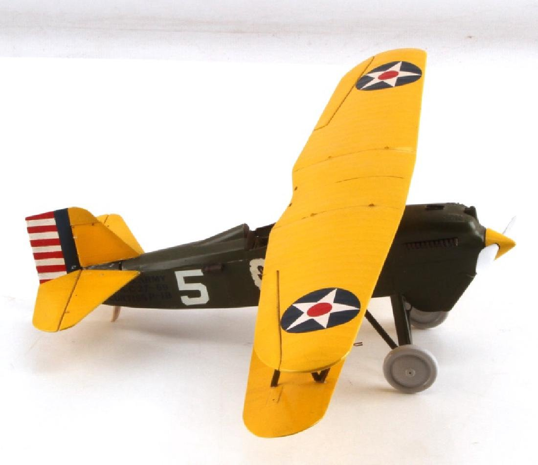 WWII US CURTISS P1B AIRCRAFT MODEL BY JOHN FICKLEN