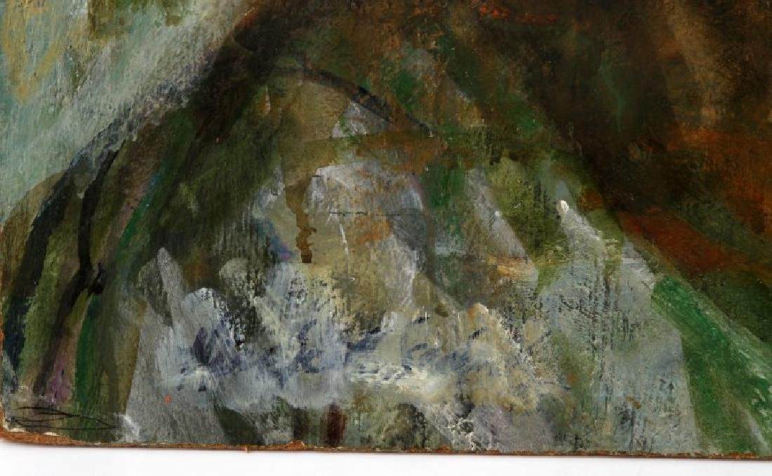 UNFINISHED ALICE SCOTT SCANLAND OIL PAINTING - 3
