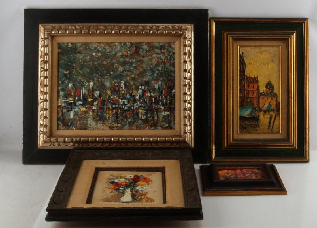 MID CENTURY MODERN EXPRESSIONIST PAINTING LOT
