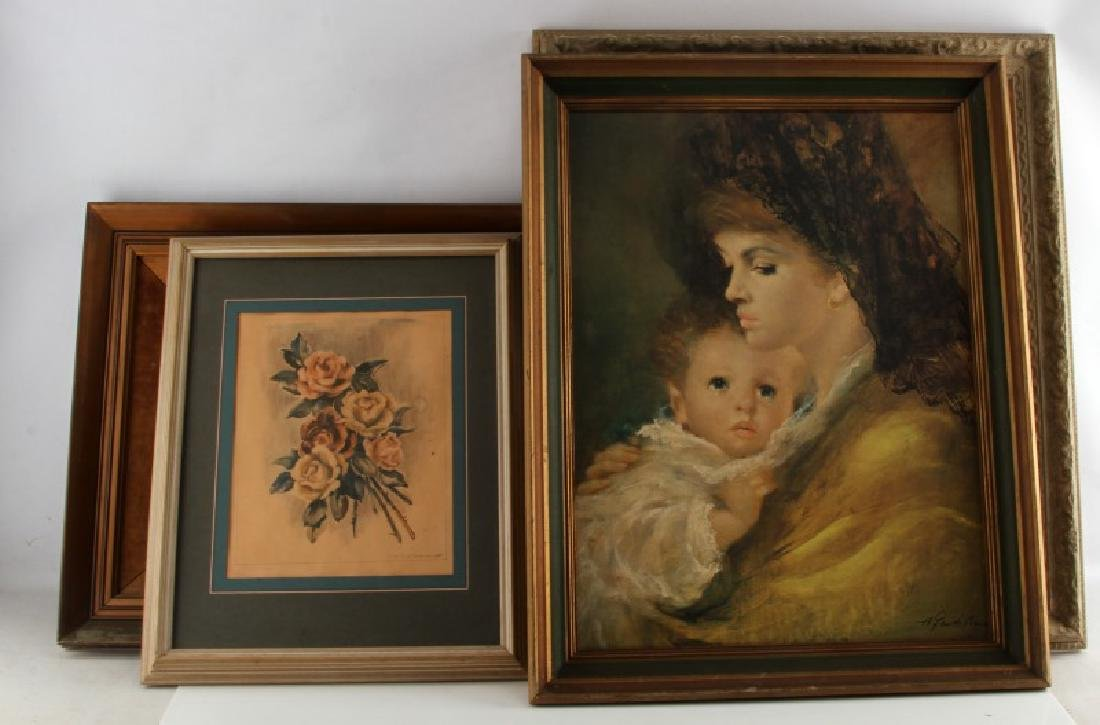 ASSORTED LOT OF VINTAGE PAINTINGS AND PRINTS
