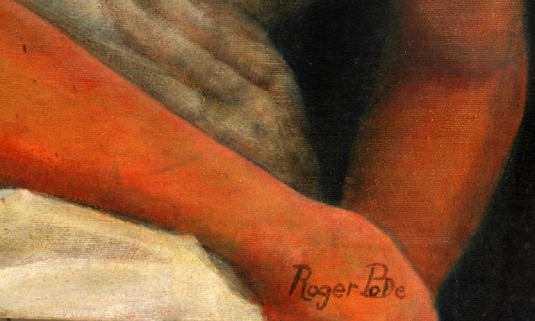 ROGER PODE VINTAGE FEMALE PORTRAIT PAINTING - 3