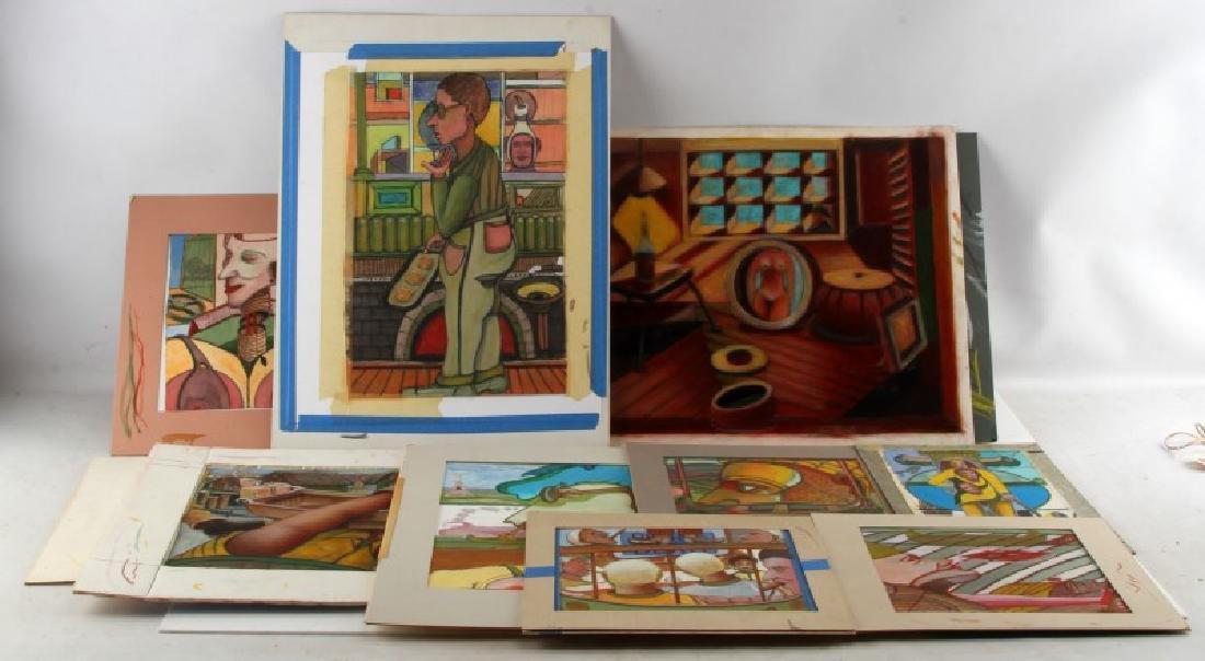 ART DEALER GALLERY LOT OF MODERN EXPRESSIONIST ART