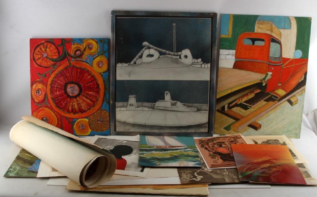 ART DEALER GALLERY MODERN ART LIQUIDATION LOT