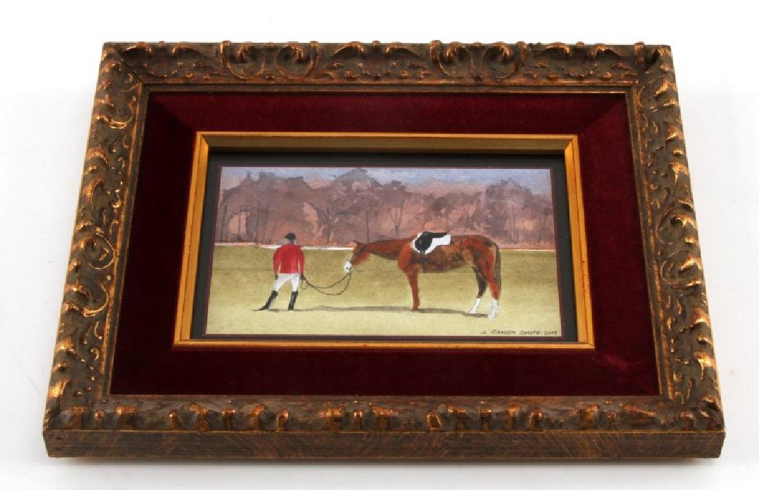 J RANDY SMITH EQUESTRIAN WATERCOLOR PAINTING