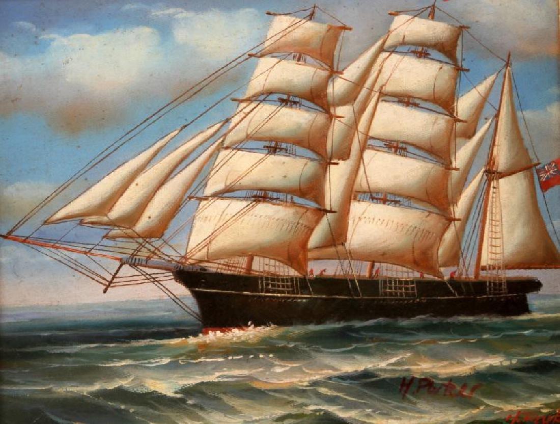 H PARKER CLIPPER SHIP NAUTICAL ART OIL PAINTING - 2