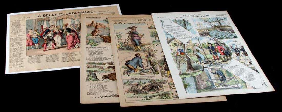 LOT OF FABLES DE LA FONTAINE ENGRAVINGS C 1902