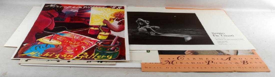 ASSORTED VINTAGE ADVERTISING EXHIBIT POSTER LOT