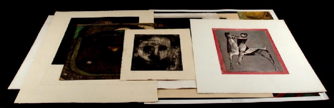 LOT OF 7 ASSORTED 20TH CENTURY ART PRINTS & PROOFS