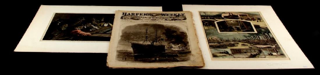 19TH CENTURY HARPERS FERRY NEWSPAPER ETCHINGS LOT - 2