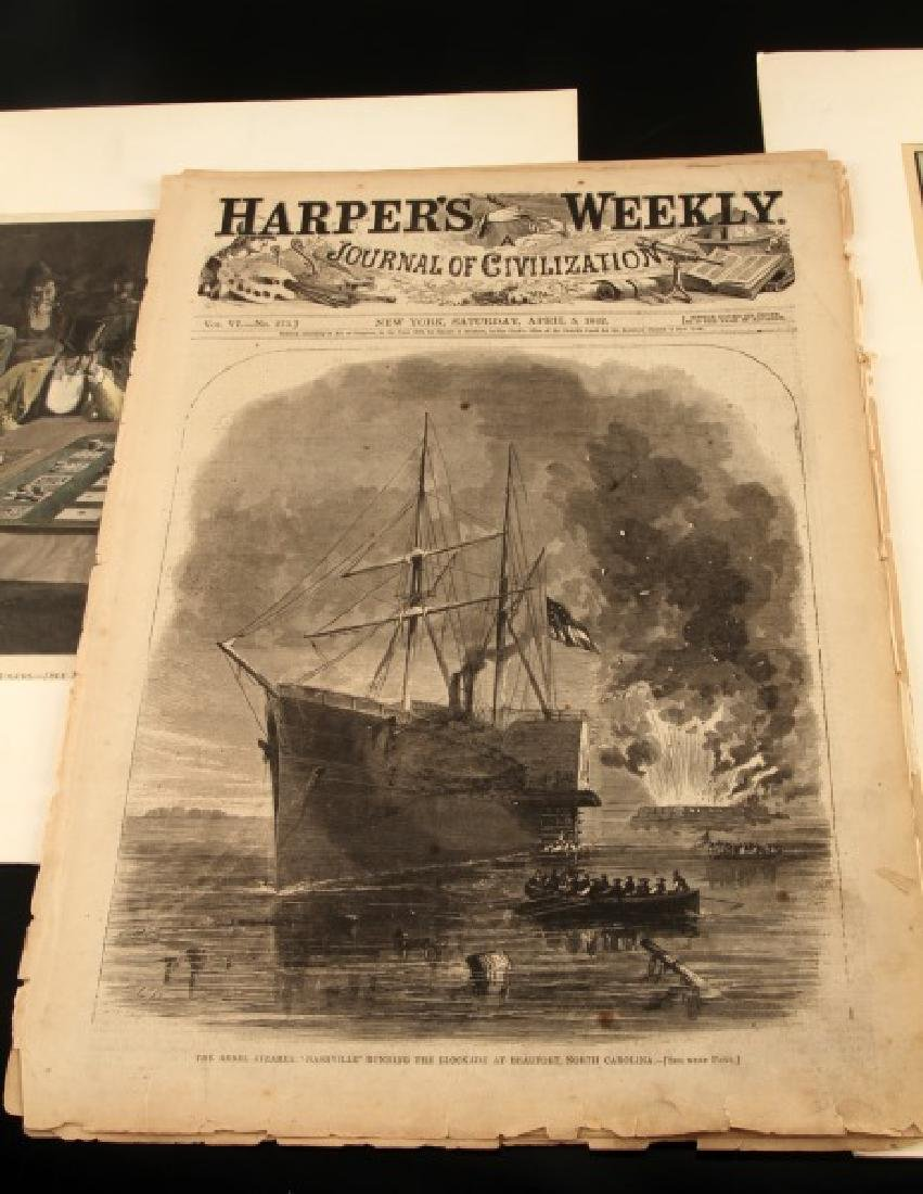 19TH CENTURY HARPERS FERRY NEWSPAPER ETCHINGS LOT - 3