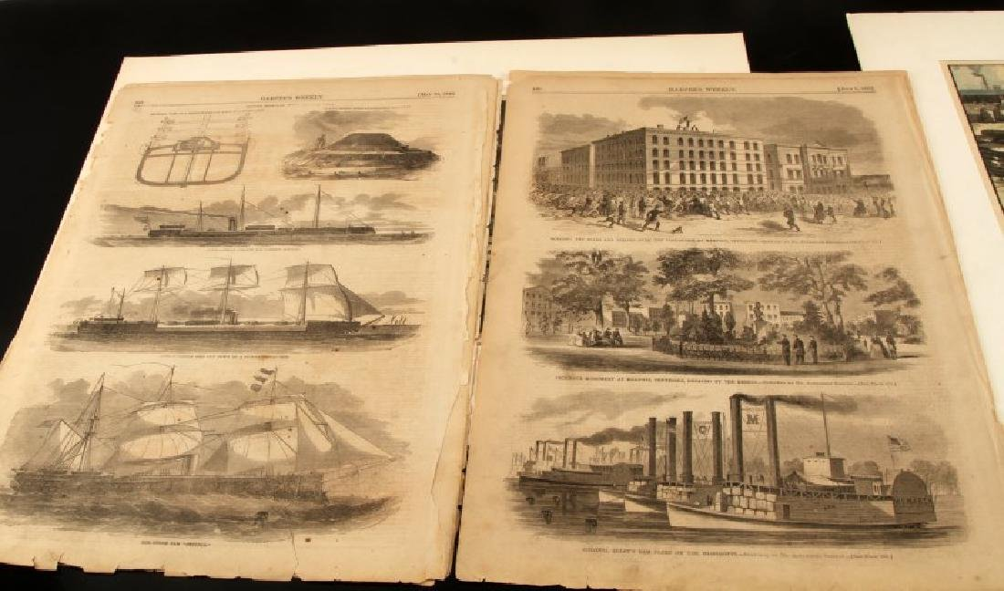 19TH CENTURY HARPERS FERRY NEWSPAPER ETCHINGS LOT - 5