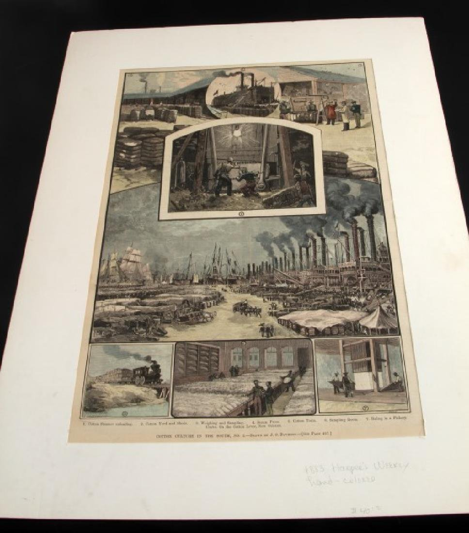 19TH CENTURY HARPERS FERRY NEWSPAPER ETCHINGS LOT - 6