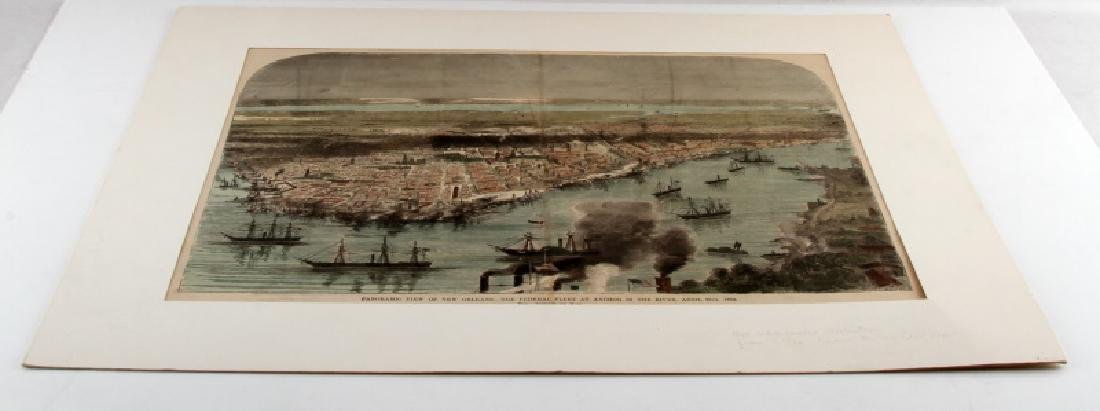 1888 HAND COLORED ILLUSTRATION NEW ORLEANS BY WAUD