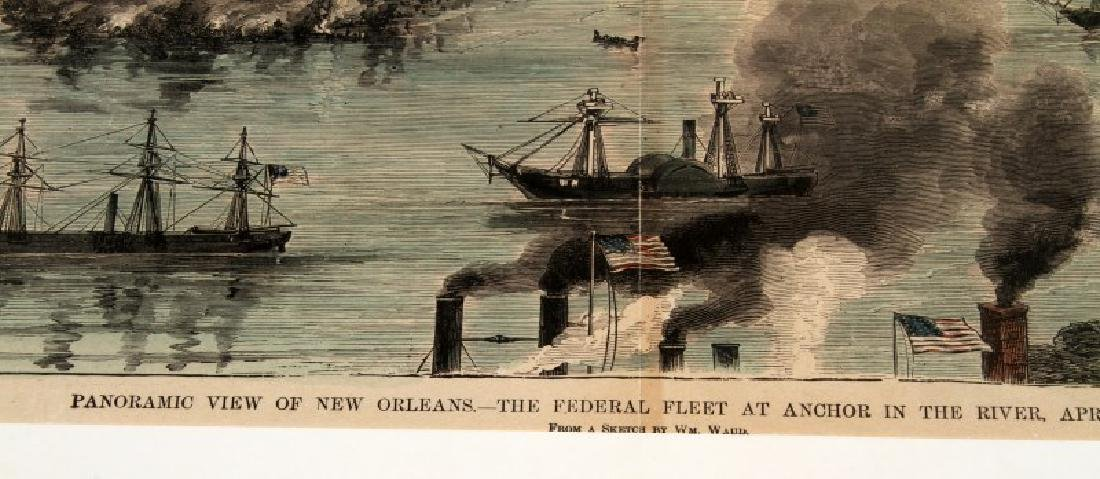 1888 HAND COLORED ILLUSTRATION NEW ORLEANS BY WAUD - 4