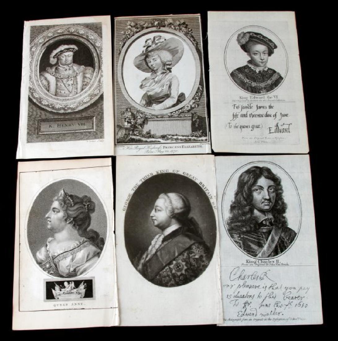GEORGIAN VICTORIAN ETCHINGS OF BRITISH ROYALTY